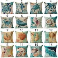 "18""x18"" Sea Animal Pillowcase Polyster Sofa Throw Cushion Cover Home Decoration"