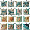 16 Styles Sea Animal Polyster Pillow Case Sofa Cushion Cover Throw Decor new