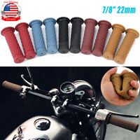 """Pair Motorcycle 7/8"""" 22mm Handlebars Hand Grips Gel For Cafe Racer Dirt Bike ATV"""
