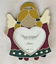 """Multi 3.5X4.5 Angel Heart Shape Figurine Frame Holds 3X3"""" Photo"""