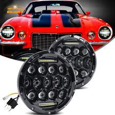 7 Inch 150w Total Cree Black LED Headlights Chevy C10 K10 Pickup Camaro G10 G20