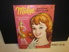 "Vintage 1963 ""MIDGE"" Barbie Doll Friend Paper Dolls – 23 Outfits/Accessories"