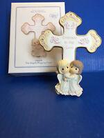 "Precious Moments ""Two Angels Hugging Cross"" #124408"