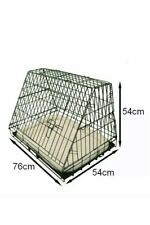 Ellie-Bo Deluxe Sloping Puppy Cage Medium 30 inch Black Folding Dog Crate