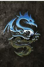 Fantasy 150 Lined: Chromium Dragon Notebook : 150 Page Notebook Journal Diary...