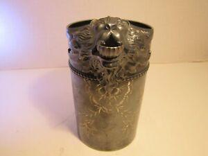 Antique James Tuffs Lion Head Spout Silver Plate Pitcher