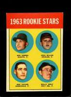 1963 TOPPS #208 RON HERBEL/JOHN MILLER/RON TAYLOR/WALLY WOLF EX (RC) 19 *XR19437