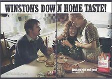 WINSTON Cigarettes 1971 Vintage 2 Pieces Print Ad # 155 9