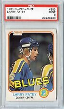 1981 O-PEE-CHEE HOCKEY #303 LARRY PATEY PSA 9 MINT NQ BLUES LOW POP