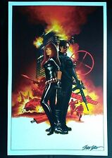 "Steve Epting Black Widow & Winter Soldier Art Print 11""x17"""