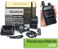 Ricetrasmittente Walkie Talkie Radiotrasmittente radio Baofeng UV-5R VHF UHF BF