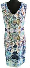 JOSEPH RIBKOFF BLUE PURPLE FLORAL STUNNING DRESS - UK Size 16