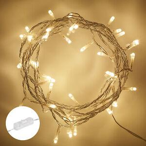 LED 50er Lichterkette Warmweiß Innen Beleuchtung Strom Dekoration Lights4fun