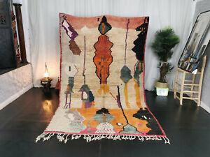 Boujad Handmade Tribal Moroccan Vintage Rug 5'9x9 Patchwork Colorful Berber Rug