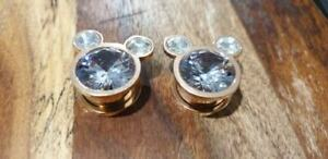Pair Mouse Ear Plug Flesh Tunnels Stretcher Taper 8-16mm