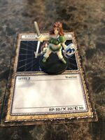 YUGIOH DDM DUNGEON DICE MONSTERS B4-08 ENGLISH KANAN THE SWORDMISTRESS W/ CARD