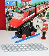 LEGO-7727-Lego, Eisenbahn, 30 Stück Haftreifen,grau, extra dünn-7727
