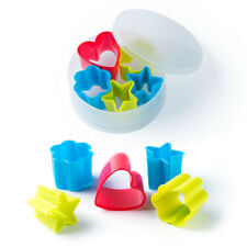 Assorted Cookie Cutter Plastic Biscuit Pastry Icing Boxed Multi Coloured Gift BN