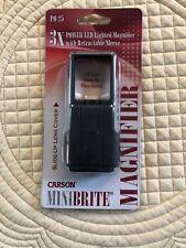 Slide Out Carson Optics 3X Power Minibrite Reading Magnifier Built In LED Light