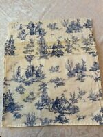 Vintage Blue & White French Pastoral Toile Set Of 6 Linen Placemats