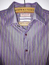 Thomas Pink 16.5in. Slim Fit 100% Cotton Striped Shirt Jermyn Street London