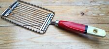 Vintage Wooden Striped Handle Kitchen Slicer Tool/Painted/Skyline/Retro 50/60's