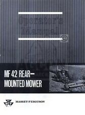 Massey Ferguson Mf 42 Mf42 Rear Mower Operators Manual
