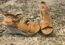 Kork-Ease Bette Wedge Sandals Natural Leather SIZE 8 39