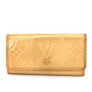 Louis Vuitton Monogram Vernis Leather Multicles 4 Ring Key Case /E1077