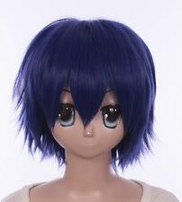 W-555 Date A Live Shido itsuka azul Blue 30cm corto cosplay peluca Wig anime