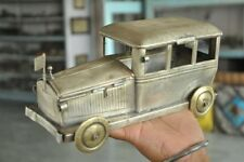 Old Brass Handcrafted Unique Car Shape Betel Nut Box , Rich Patina