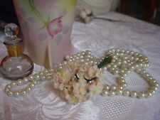 VELVET MILLINERY FLOWERS - BUNCH OF PINK & CREAM FORGET-ME-NOT