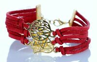 SALE Red 3 STRING Bracelet Kabbalah Mix pendent Hamsa Lucky Charm Jewelry