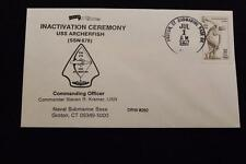 DRW NAVAL COVER # 260 INACTIVATION USS ARCHERFISH (SSN-678) 1997 HAND CANCEL