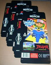 Atari Jaguar 64-bit Konsole 3 X Kariert Flagge Spiel Packung Neu P/n J9007e