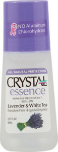 Mineral Deodorant Roll-On Lavender & White Tea by Crystal Essence, 2.2 oz