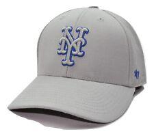 New York Mets 47 Brand MLB MVP TC Pop Gray Adjustable Baseball Cap Hat
