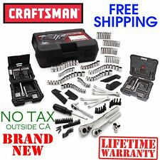 New CRAFTSMAN 220pc Piece Mechanics TOOL SET w CASE, SAE METRIC Deep Standard