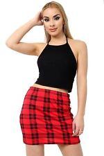 New LADIES Womens Printed Stretch Ladies Short Mini Skirts Size UK MADE  8-26