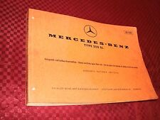 1967 67 MERCEDES 250SL CHASSIS & BODY SPARE PARTS BOOK EDITION A 10128.....RARE