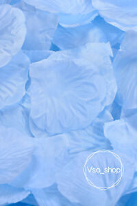 500-10000pcs Silk Rose Petals Light Blue Artificial Flowers Wedding Party Decor