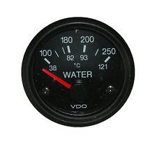"Temp gauge, VDO type, 2""/52mm, 100-250F, 12V w/plug wire harness, VDO-T"