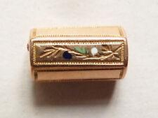 Coulant passant de collier en OR + émail régional ancien 19e siècle gold pendant