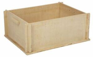 Buddelkiste für Kaninchen Nager Hasen Buddelbox Sandkiste Sandkasten 50x39x20 cm