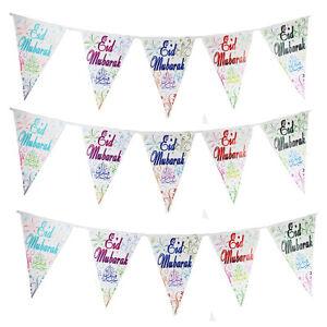 EID - Bunting Banner Decoration Ramadan Greeting Party Celebration Mubarak Gifts