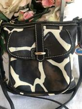 DOONEY BOURKE ZEBRA letter carrier messenger bag purse   (3000