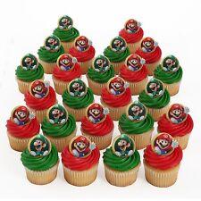 Super Mario Bros Luigi 23 Cupcake Rings Bag Fillers Birthday Party Favors Prizes