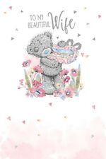 For my Beautiful WIFE - Medium - Tatty Teddy Me to You - Birthday Card