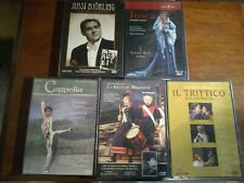 Classical Performances Dvds (Set Of 5) Opera And Ballet Brand New