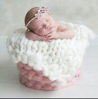 Grobstrick Decke Fotoshooting Newborn Neugeborenen Korb Pucktuch Baby Fotografie